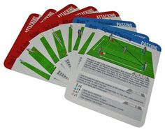 Gaelic Football Coaching Cards by @Elevate_Sport    The cards are split into 4 areas or 4 types of skills, each area is a different colour to help the user to sort and use the cards: Attacking, Defending, & Passing Skills