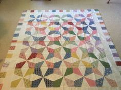Scrap quilt made by Sharon Theriault