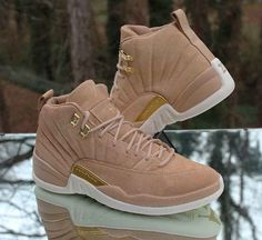 13d2e812580c Nike Air Jordan 12 Retro Vachetta Tan W Size 5-12 Metallic Gold Sail  AO6068-203