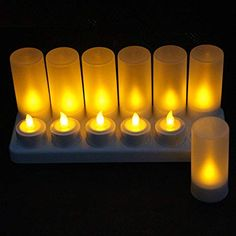 Home & Garden Yellow Flicker Led Candles Rechargeable Tea Lights Candle Lamp/ Battery Operated Decorative Candles For Wedding Cleaning The Oral Cavity.