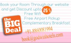 Hotel Grand Godwin and Hotel Godwin Deluxe New Delhi offers 20% + 5% Extra upon booking through our official website.