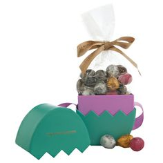 Fortnum & Mason Truffle Egg Box £18.50 Why have just one chocolate egg when you could have six? This pretty eau de nil egg box is filled with the most delicious truffle eggs in a variety of flavours, including Marc de Champagne, milk, dark, sea-salted caramel and praline.