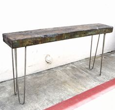 60 Console Table Reclaimed Tsunami Barge Wood by CasanovasCabinet, $395.00