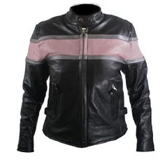 Black & Pink Leather Jacket - $95 cute!