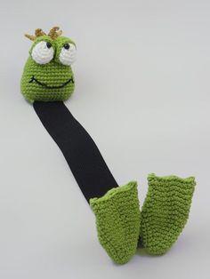 Henri le frog bookmark amigurumi crochet pattern by IlDikko