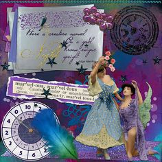 Art journal layout by jaedde. {Credits: Tangie Baxter, Sissy Sparrows, Rebecca McMeen, Finecrafted Designs}
