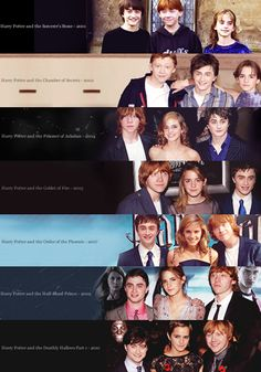 Time flies - Harry Potter - I like this sequence, cos it looks like Daniel Radcliffe is shrinking, haha - Memes Do Harry Potter, Fans D'harry Potter, Mundo Harry Potter, Theme Harry Potter, Harry Potter Cast, Harry Potter Love, Harry Potter World, Harry Potter Timeline, Potter Facts