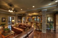 Great entertaining room with an open air concept to the kitchen