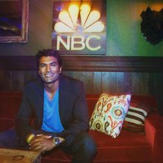 """""""Just hangin' out with all my friends at @nbc party at #SDCC2017 😂. #billynomates #davidyehphotocredit @NBCReverie"""" 📸 #SendhilRamamurthy #Reverie"""