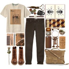 """the naturalist."" by cauchemar-exquis on Polyvore"