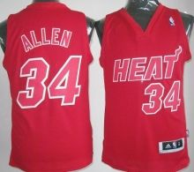 Miami Heat #34 Ray Allen Red Revolution 30 Swingman NBA Jersey Christmas Style Red Number Wholesale Cheap