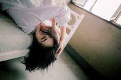 #3 Happy On The White Bed. #portrait #art #photo