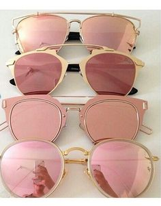 53765821e33 Trendy Mirrored Sunglasses - 4 colors - Awesome World - Online Store - 2  Gold Sunglasses