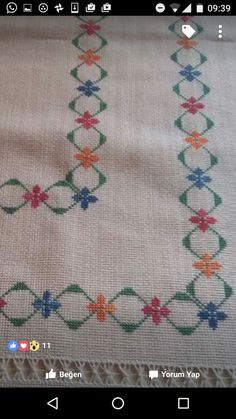 Cross Stitch Borders, Cross Stitch Flowers, Cross Stitch Designs, Cross Stitching, Cross Stitch Embroidery, Embroidery Patterns, Hand Embroidery, Cross Stitch Patterns, Kawaii Cross Stitch