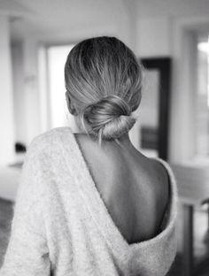 low hair bun