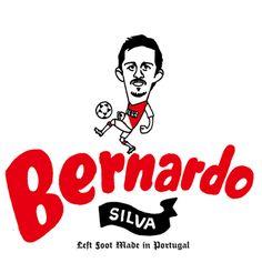 ベルナルド シルバ BERNARDO SILVA(ポルトガル)の似顔絵イラスト