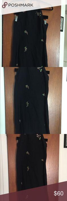 Anna Sui halter linen embroidered dress Vintage Anna Sui linen dress Anna Sui Dresses Mini