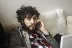beard, plaid, messy hair, pretty eyes. lemme make out with your face.