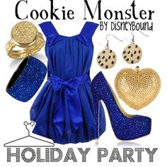 Cookie Monster - Holiday Party. Oh yes. Sesame Street throw back!