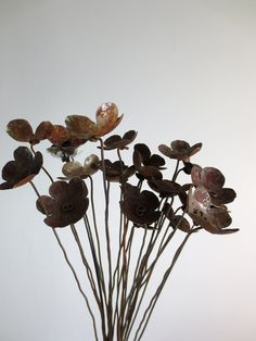 Rustic Bouquet of Rusty Metal Flowers For Your by thedustyraven