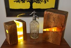 Resin Woodblock Lamp