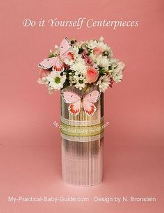 Image detail for -Butterfly & Flower Centerpieces - My Pracrical Baby Shower Guide