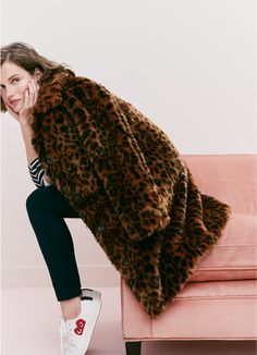 jcrew faux fur leopa