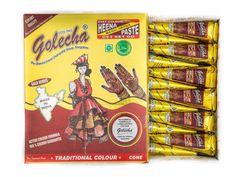 6 x GOLECHA BROWN HENNA MEHANDI BROWN COLOR CONE 25gm | FREE SHIPPING WORLDWIDE #GolechaMehndiCone