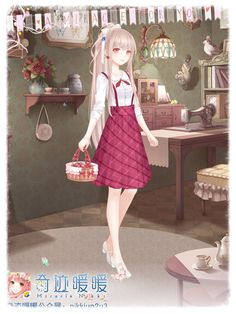 Miracle Nikki Cartoon Outfits, Anime Outfits, Cute Outfits, Anime Girl Pink, Manga Girl, Beautiful Anime Girl, Beautiful Outfits, Kleidung Design, Chica Cool