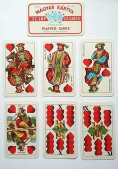 Hungarian playing cards. TELL-CARDS (MAGYAR KARTYA). WILHELM TELL. 1830 Jozsef Schneider, Budapest. 1970s | eBay