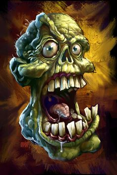 Chompers 12 x 18 Signed Print by Grimbro on Etsy, $25.00
