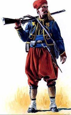 Zuavo de Nueva York durante la Guerra de Secesión, cortesía de Don Troiani. La mejor colección de láminas militares en http://www.elgrancapitan.org/foro/