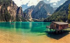 ITALY – Lake Braies, a. Lake Prags or Pragser Wildsee in the Prags Dolomites mountain range, Trentino-Alto Adige/Südtirol (South Tyrol) region. Places To Travel, Places To See, Beautiful World, Beautiful Places, Beautiful Beach, Romantic Places, Camping Nature, Nature Green, Europa Tour