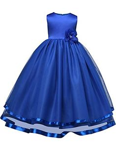 2e2e32771b12b Clothes for Girls Kids Princess Summer Beach Clothing Tul... Cheap Flower  Girl Dresses