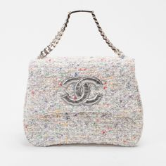 Vintage Chanel ~~ White Tweed