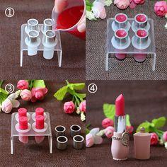 Mini Lipstick Aluminum Ring Lip Balm DIY Mould Crafts Tool Kit Self-made Tube in Health Beauty, Makeup, Makeup Tools Accessories Makeup Kit, Diy Makeup, Makeup Tools, Beauty Makeup, Drugstore Makeup, Makeup Geek, Beauty Bar, Diy Beauty, Makeup Brushes