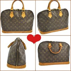 Authentic Louis Vuitton Alma bag This Alma bag is in good used condition. Shows normal wear, rubbing and scratches especially on the handles, corners and edges of the bag. No rips or tear. No dust bag. Water spots on the bottom as shown in pictures. A little out of shape, looks much better when full. Louis Vuitton Bags Satchels