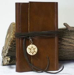 Brown Leather Journal Planner Blank Diary Travel, Hunting, Handmade 7.5 X 4.5