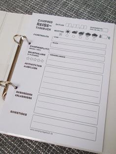 **Das Camping-Reisetagebuch für dein Wohnmobil mit 25 Einlegeblättern zum Ausfüllen,** (siehe Foto)* **hier in der Variante mit einem TEILINTEGRIERTEN Reisemobil** Praktische DIN...