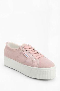 Superga Pink Pony Hair Platform-Sneaker - Urban Outfitters