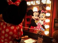 Mickey Mouse & Minnie Mouse at Disney World