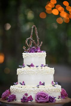 #rustic #wedding #cake