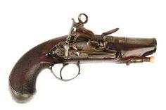Pistola de pany Miquelet segurament feta a Eibar (Euskadi) cap a finals segle XVIII.