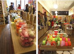 Someday I hope to own my own yarn/fabric store. Purl soho store, NY