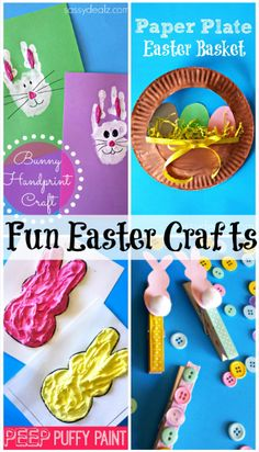 Easy & Fun Easter Crafts For Kids #DIY #Easter art projects   #Bunny | CraftyMorning.com
