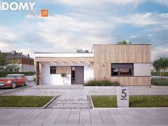 Parterowy projekt domu z płaskim dachem - AMIKA (91,85 m2). Pełna prezentacja projektu dostępna jest na stronie: https://www.domywstylu.pl/projekt-domu-amika.php #projektydomów #projektydomow #projektygotowe #projektdomu #domzpoddaszem #house #home #homeproject #homedesign #insides #interiors #wnetrza #architektura #architecture #design #domywstylu #mtmstyl