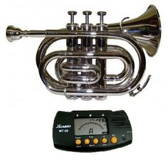 Merano Nickel Plated Pocket Trumpet With Case + Free Metro Tuner, 2015 Amazon Top Rated Wind & Brass #Toy