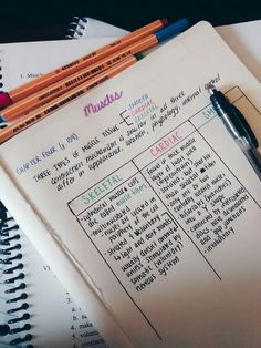 Organize notes like this while studying for an exam #organization #study