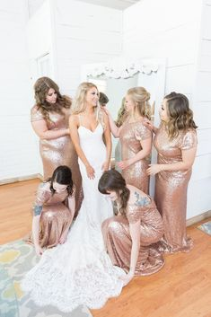Add a little sparkle to your big day with these gorgeous bridesmaid dresses! This bridal party was absolutely stunning from head to toe. #sparkle #bridalparty #weddingparty #bridalpartyphoto #weddingphoto #sparklydresses #weddingdress #romanticweddingdress #rosegolddresses #bridesmaids #maidofhonor #arizonawedding #wedding #arizonabrides #dress #bridalhair #bridalbeauty #beauty #dresses #weddingtheme #weddingphotos #bridalsuite