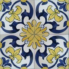 2513 Portuguese handmade majolica tile Luxurious Wall & Floor Ceramic Tile Azulejo (Lambrim) Repetitive Patterns Tile size: x x / x Traditional hand painted majolica Handmade filtered clay / fine Ceramic Painting, Ceramic Art, Tile Painting, Azulejos Art Nouveau, Tuile, Spanish Tile, Vintage Tile, Portuguese Tiles, Handmade Tiles